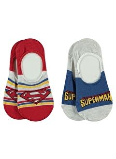 Superman Superman Erkek Çocuk 2'li Babet Çorap 3-11 Yaş Kırmızı Superman Erkek Çocuk 2'li Babet Çorap 3-11 Yaş Kırmızı
